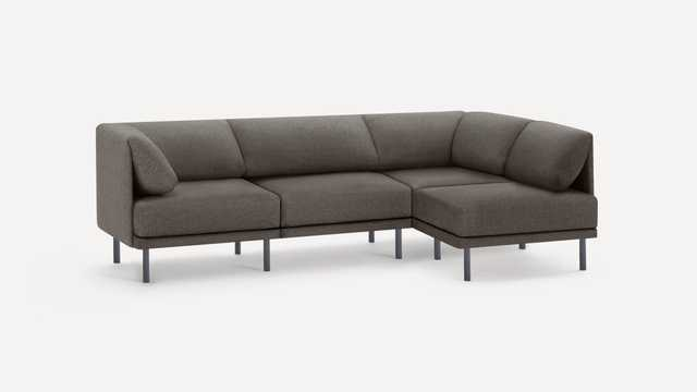 Range 4-Piece One Arm Sectional - Burrow