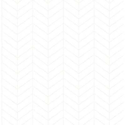Chesapeake 56.4 sq. ft. Bison Off-White (Beige) Herringbone Wallpaper - Home Depot