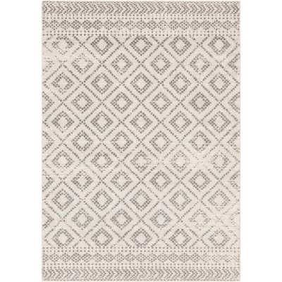 Woodrum Southwestern Light Gray/White Area Rug - Wayfair