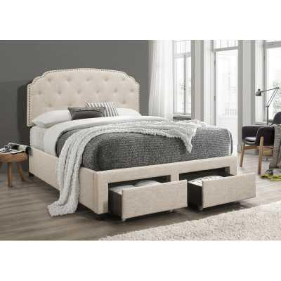 Neve Upholstered Storage Standard Bed / Queen - Wayfair