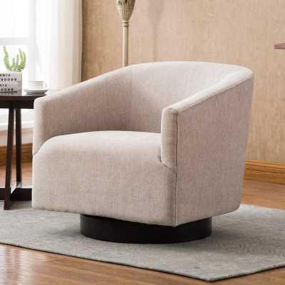 Kylie Swivel Barrel Chair / Oatmeal - Wayfair