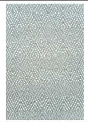 Woven Cotton Blue Area Rug 6 x 9 - Wayfair