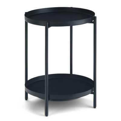 Simpli Home Monet Black Metal End Table - Home Depot