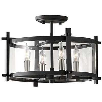 "Feiss Ethan 16 1/2"" Wide Semi-Flush Ceiling Light - Lamps Plus"