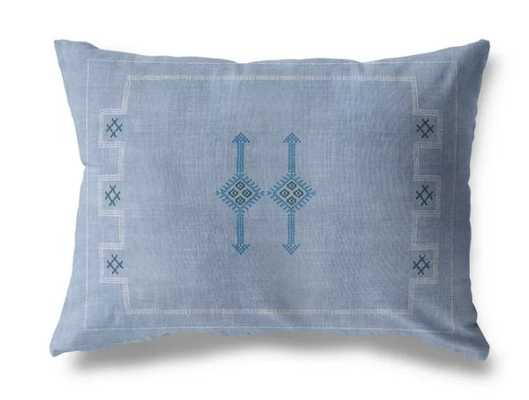 "Lorene Indoor/Outdoor Lumbar Pillow Blue 12"" x 16"" - AllModern"