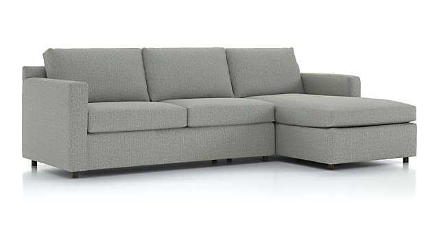 Barrett 2-Piece Right Arm Chaise Sectional - Crate and Barrel
