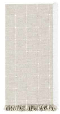 CARMEL FRINGED WINDOWPANE NAPKINS - SET OF 4 - Ballard Designs