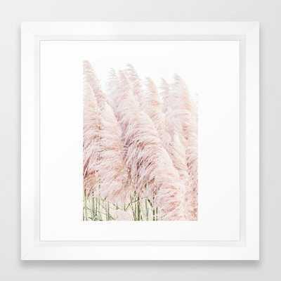 Pink Pampas Framed Art Print 12 x 12 - Society6