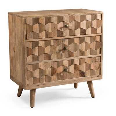 Westphal Mid-Century Modern Mango Wood 3 Drawer Accent Chest - Wayfair