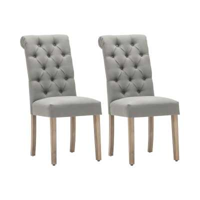 Bushy Roll Top, Set of 2, Upholstered Side Chair - Wayfair