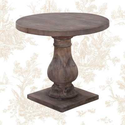 Jarrell Solid Wood Pedestal End Table - Wayfair