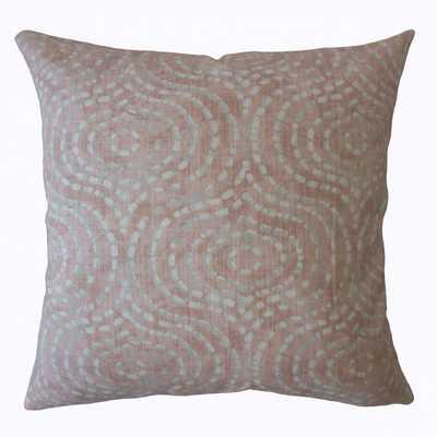 "Varian Geometric Pillow Blush, 24"" x 24"", Poly Insert - Linen & Seam"