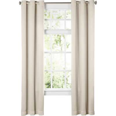 "Wayfair Basics Solid Blackout Grommet Single Curtain Panel, Pearl, 95"" L - Wayfair"