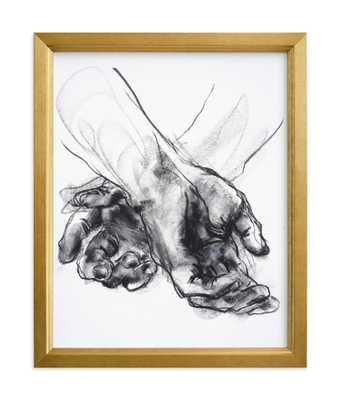 Drawing 561 - Crossed Hands Art Print - Minted