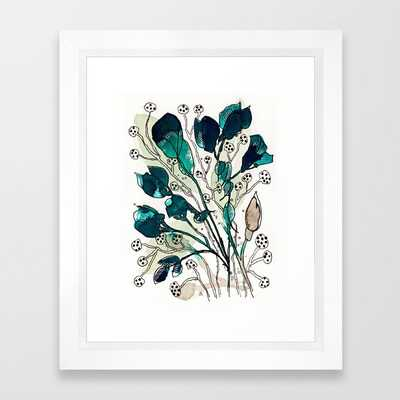 Emerald Framed Art Print by Tonya Doughty - Society6