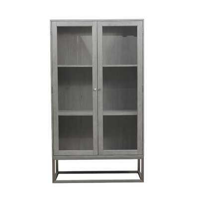 Ormond Modern 2 Shelf Display Curio Cabinet - Wayfair