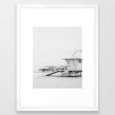 SANTA MONICA / California Framed Art Print - Society6