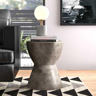 Kuala Hourglass End Table - Wayfair