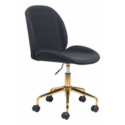 Miles Office Chair Black - Zuri Studios