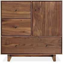 Hudson Small Cabinets with Wood Base - Room & Board