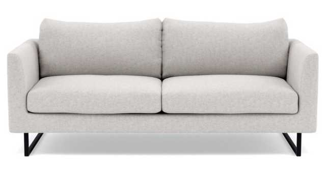"""Owens sofa Sofa in Pebble heathered weave with matte black square outline legs, 82"""" - Interior Define"""