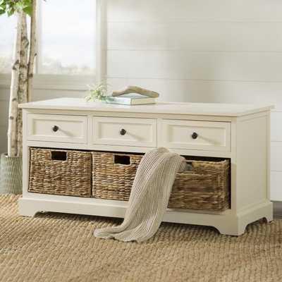 Ardina Wood Storage Bench - Wayfair