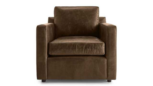 Barrett Leather Track Arm Chair - Crate and Barrel