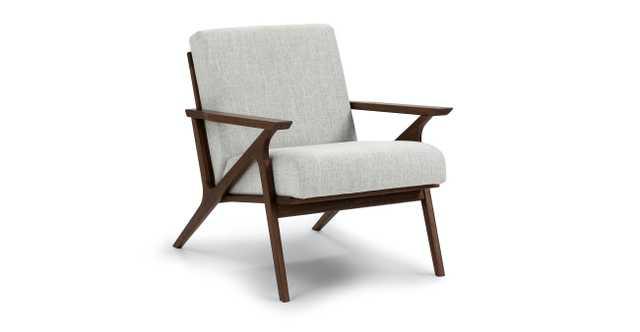 Otio Mist Gray walnut Lounge Chair - Article
