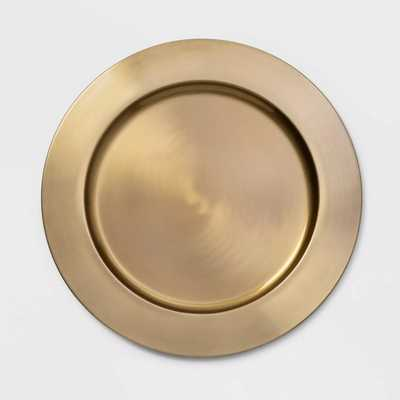 """13"""" Stainless Steel Decorative Charger Gold - Threshold™ - Target"""