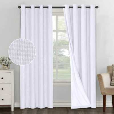 Mike Solid Color Max Blackout Thermal Grommet 2 Curtain/Drapes (Set of 2) - Wayfair