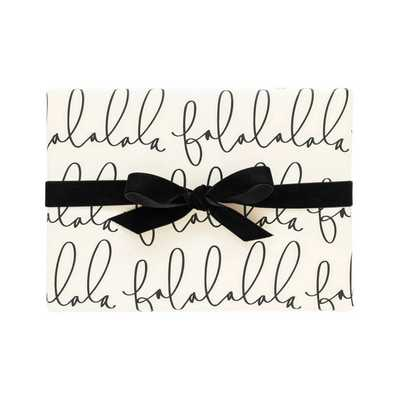 Falala Cream & Black Gift Wrap Single Roll - Target