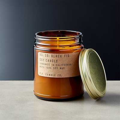 Black Fig Soy Candle - CB2