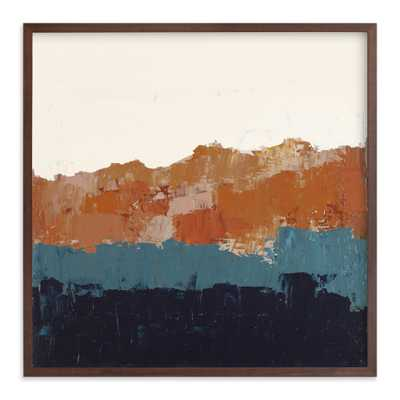 Abstract Color Study Blue And Orange Art Print - Minted