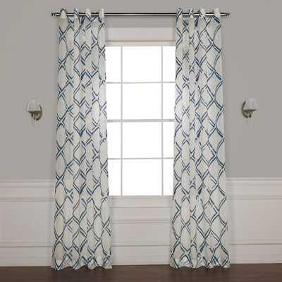 Romane Geometric Sheer Grommet Single Curtain Panel - Wayfair