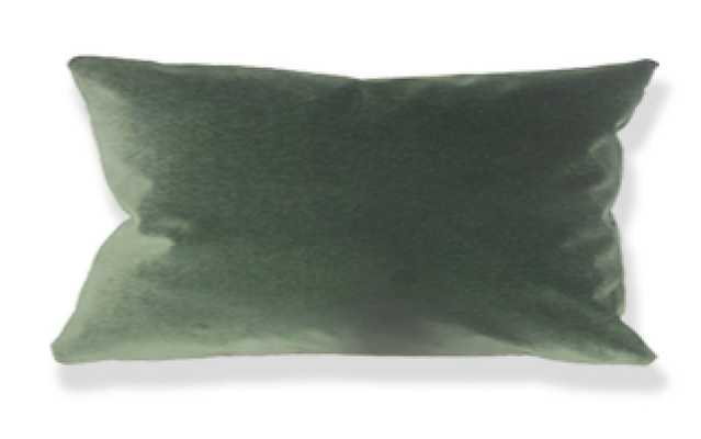 "Wish Holiday Pillow Green - 12"" x 18"" Lumbar - Linen & Seam"