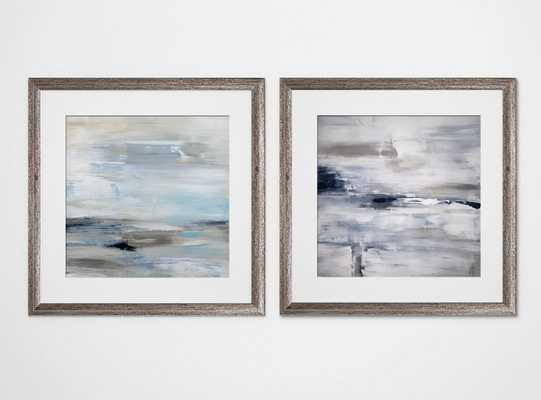 'Shifting Tides II' 2 Piece Framed Print Set - Brown Frame - Wayfair