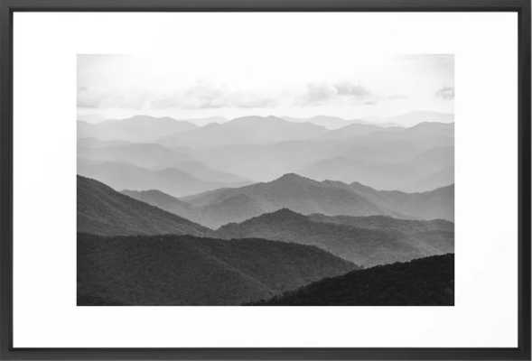 Cannon Beach Sunset - Black and White Nature Photography Framed Art Print - Society6
