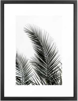 Palm Leaves Framed Art Print - Society6