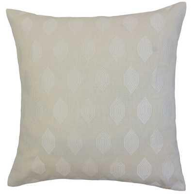 """Gal Geometric Throw Pillow, down insert Lumbar 12"""" x 18"""" - Linen & Seam"""