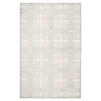Beyer Geometric Silver/Cream Area Rug - Wayfair