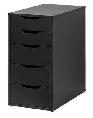 ALEX Drawer unit, black-brown - Ikea