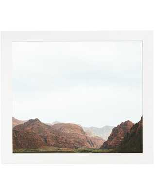 "SNOW CANYON Art with Irvine Frame - 30"" x 40"", No Mat - McGee & Co."