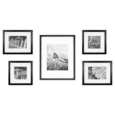 5-Piece Gallery Picture Frame Web in Black - Bed Bath & Beyond