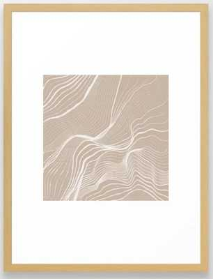 """Canyon Lines IV - Conservation Natural 20"""" X 26"""" - Society6"""