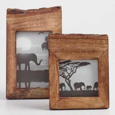 "Raw Edge Wood Frame: Brown - 4""x4"" by World Market 4""x4"" - World Market/Cost Plus"