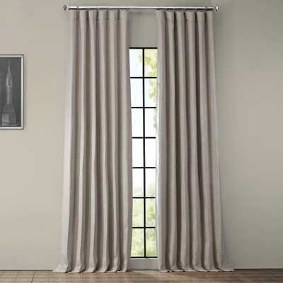 Clay Beige Faux Linen Blackout Curtain - 50 in. W x 96 in. L (1 Panel) - Home Depot