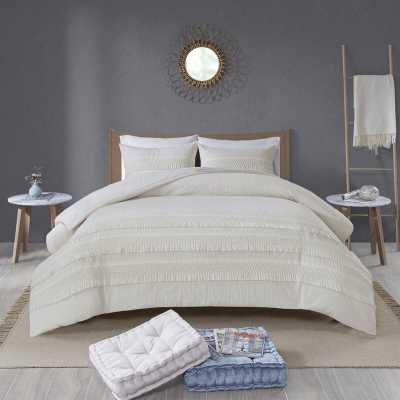 Umbria Cotton Seersucker Reversible Comforter Set - Wayfair