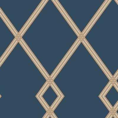 Ribbon Stripe Trellis CY1506 - York Wallcoverings