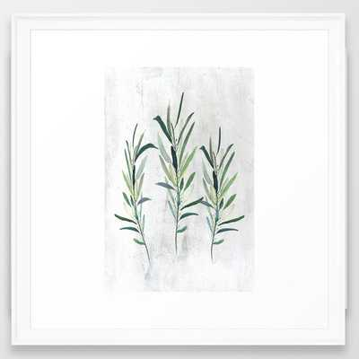 "Eucalyptus Branches Framed Art Print - 22""X22"" - Society6"