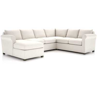 Hayward 4-Piece Left Arm Chaise Rolled Arm Sectional - Crate and Barrel